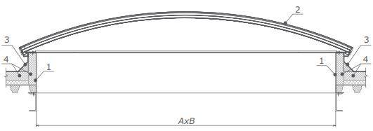 Конструкция арочного глухого зенитного фонаря